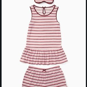 Kate Spade Sleeveless Short PJ Set w/ Eye Mask XL